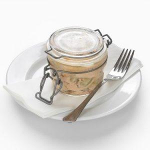 Sour cream cucumber salad in a clamped jar