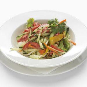 Fresh stirred, mixed salad