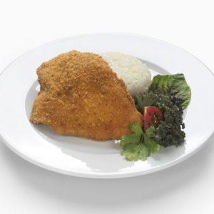 Magyaros csirkemell párolt jázmin rizzsel, friss, kevert vegyes salátával